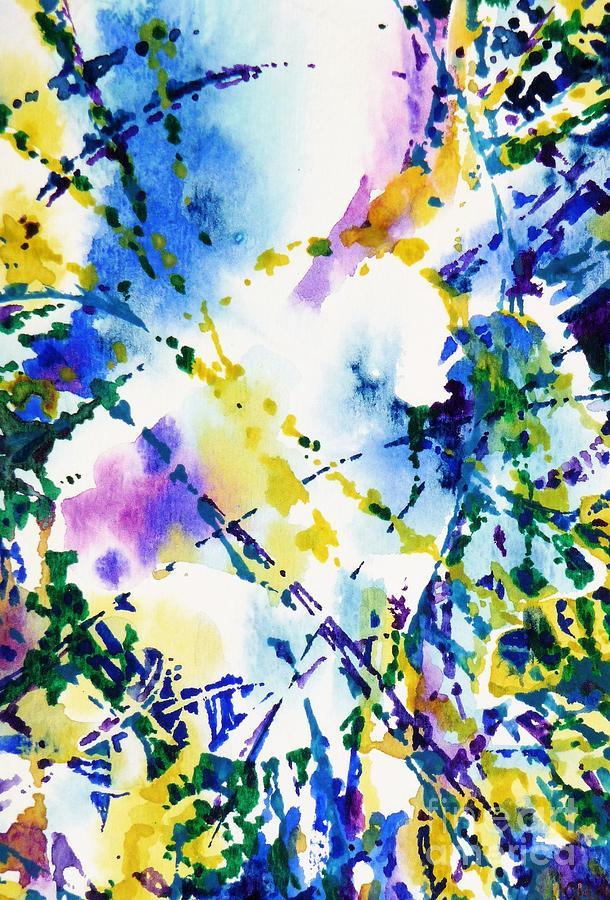 Blue Spectrum Abstract by CHERYL EMERSON ADAMS