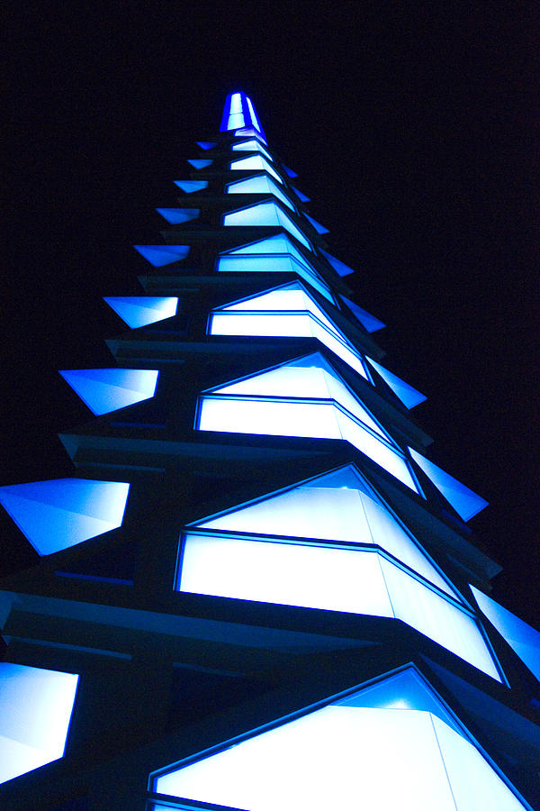 Blue Photograph - Blue Spire by Richard Henne