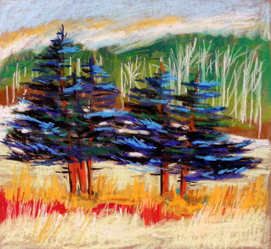 Blue Spruce Painting - Blue Spruce Stand by John Williams