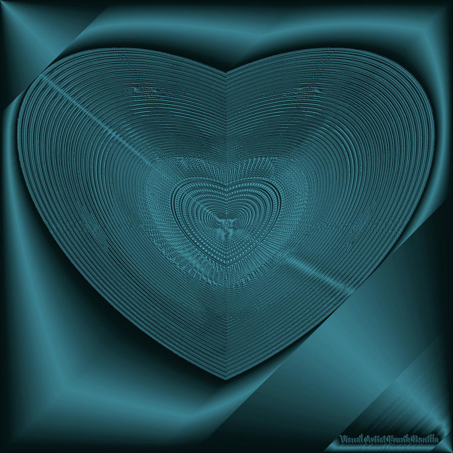 Blue Steel Heart by Visual Artist Frank Bonilla