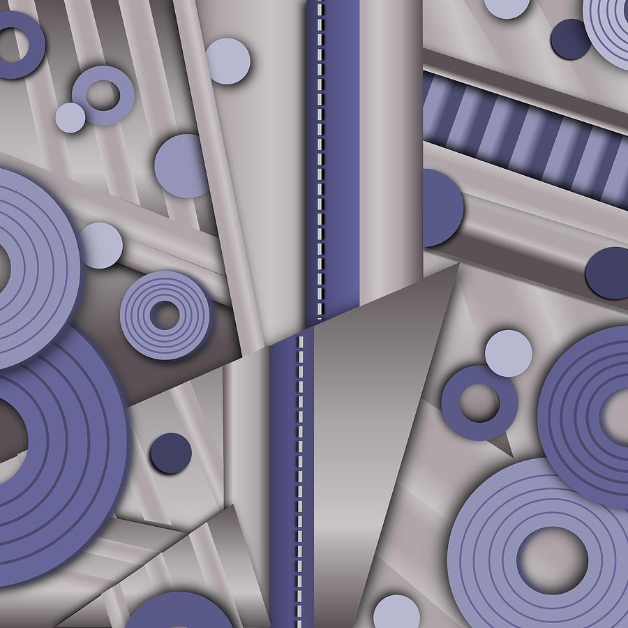 Art Deco Digital Art - Blue Steel by Tara Hutton