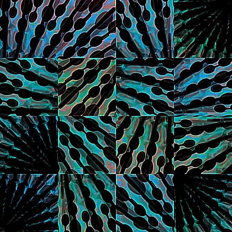 Vivid Digital Art - Blue Sticks by Cooky Goldblatt
