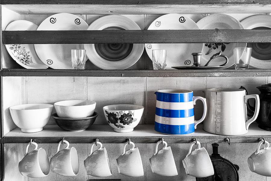Blue Striped Jug Photograph