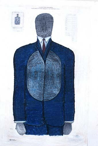 Target Painting - Blue Suit Target by Billy Knows