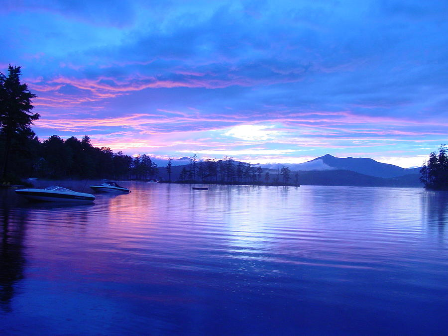 Sunset Photograph - Blue Sunset by Katherine Huck Fernie Howard