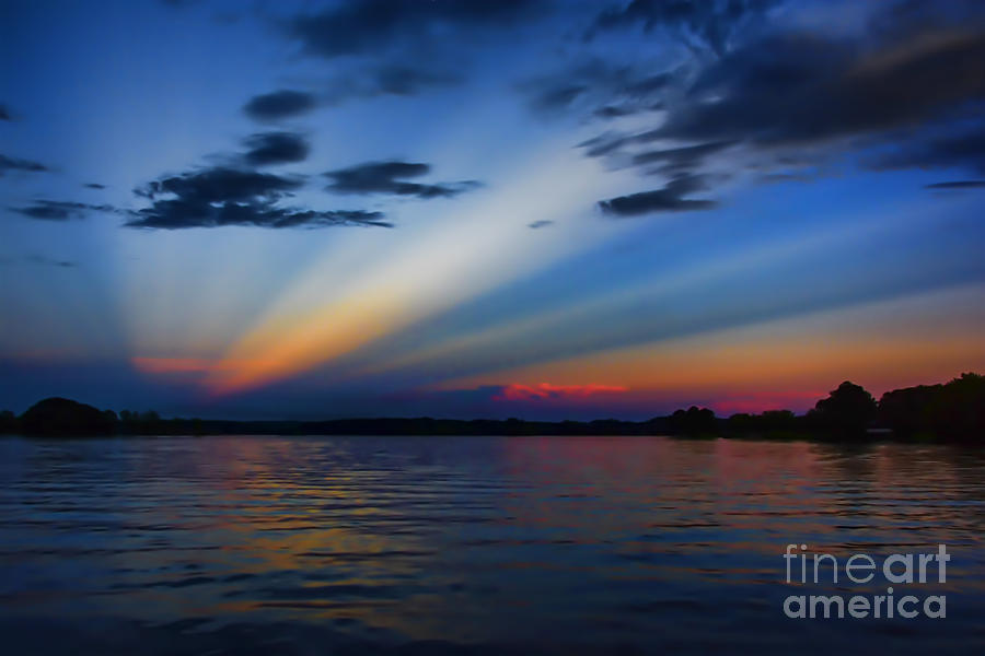 Blue Photograph - Blue Sunset by Ken Johnson