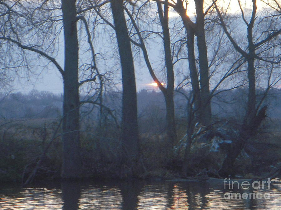 Blue Sunset On Fox River Photograph by Deborah Finley