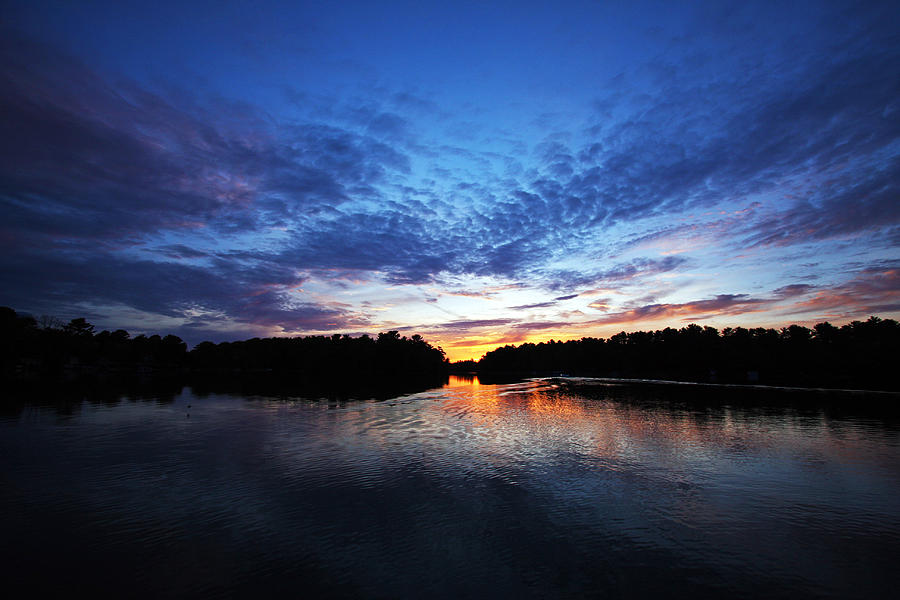 Chain O Lakes Photograph - Blue sunset by Ty Helbach