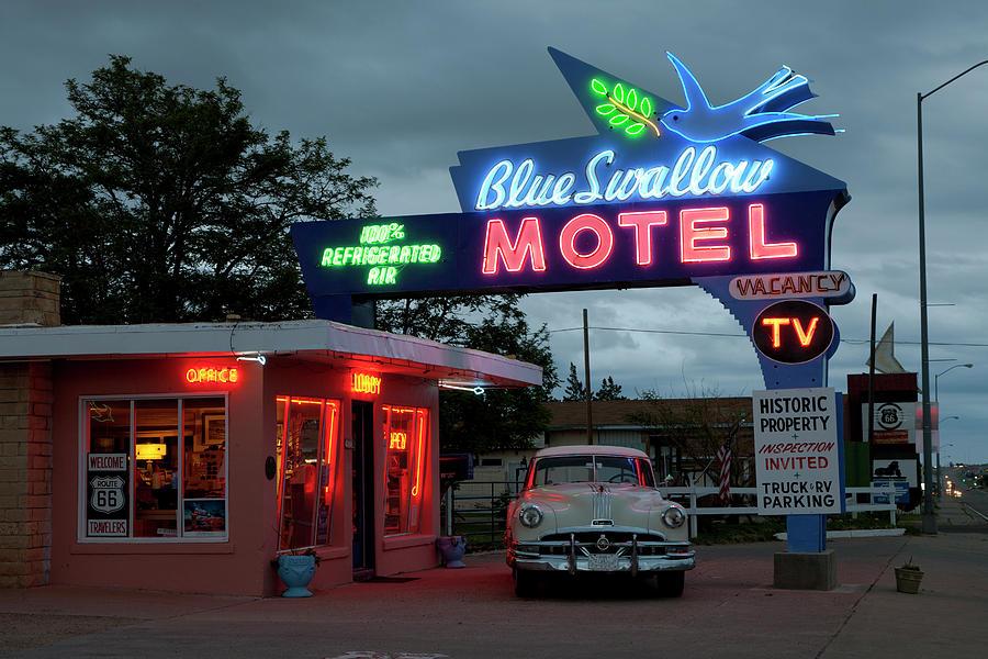 Blue Swallow Motel In Tucumcari Photograph