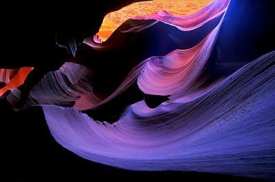 Lower Antelope Canyon Photograph - Blue Swirl  Lower Antelope Canyon   Arizona by Tom Narwid