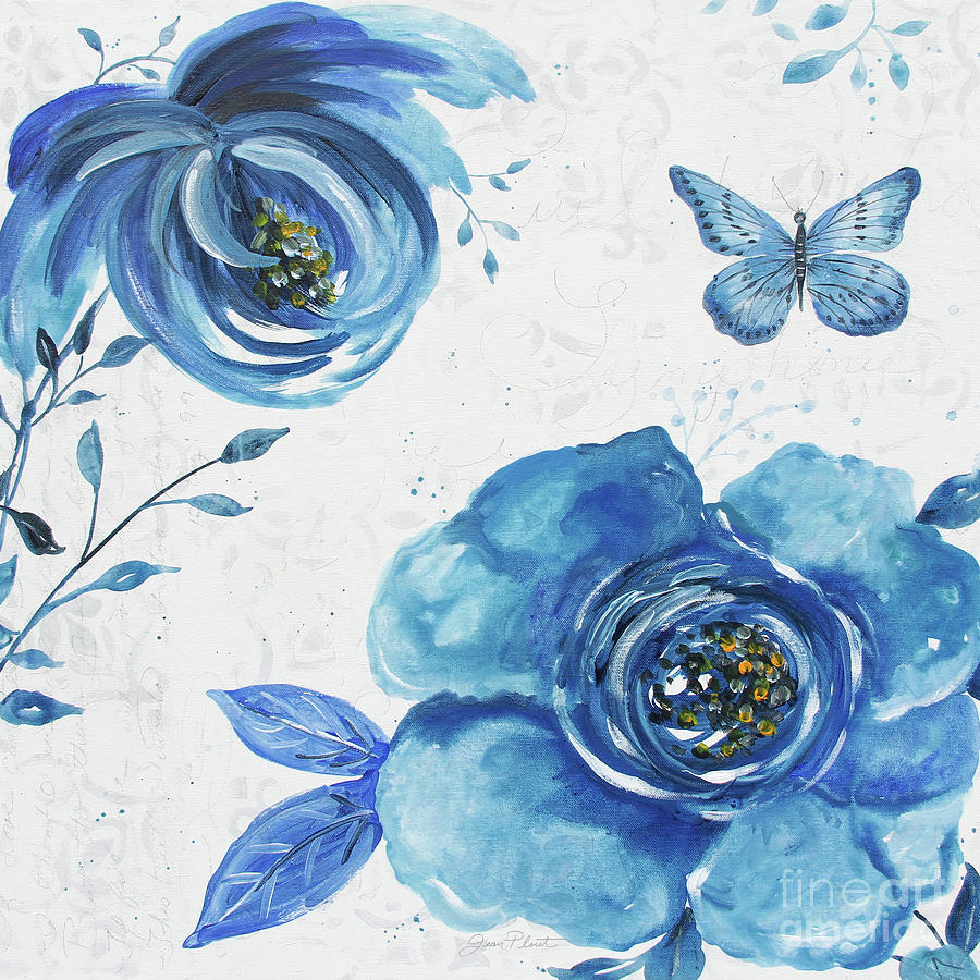 Blue Painting - Blue Symphonie In The Garden 1 by Jean Plout
