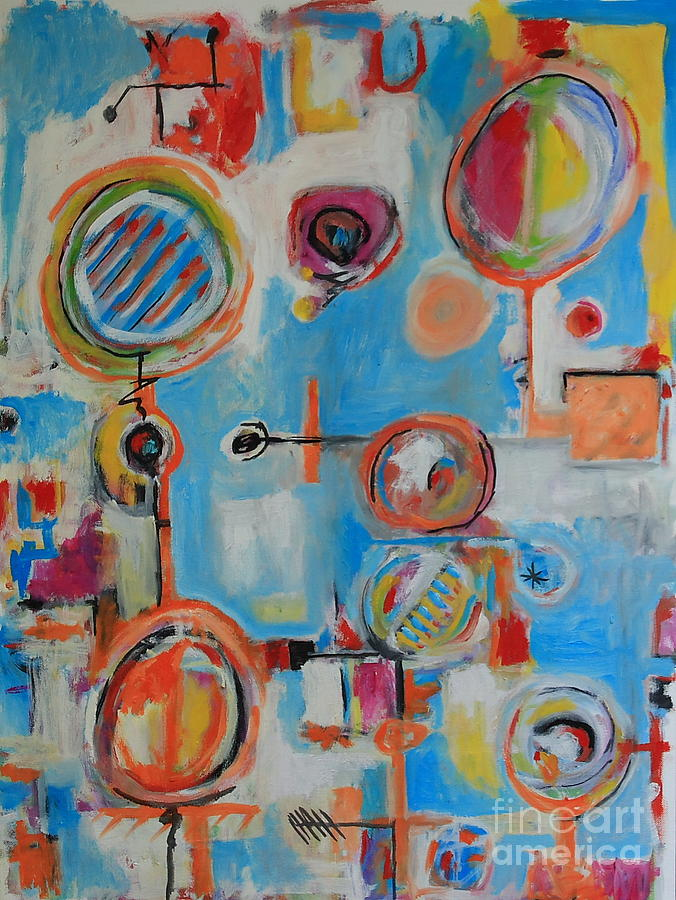 Abstract Painting - Blue System by Michael Henderson