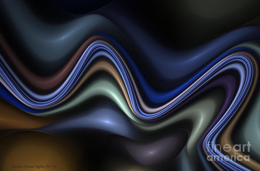 Digital Digital Art - Blue Taffy by Sandra Bauser Digital Art