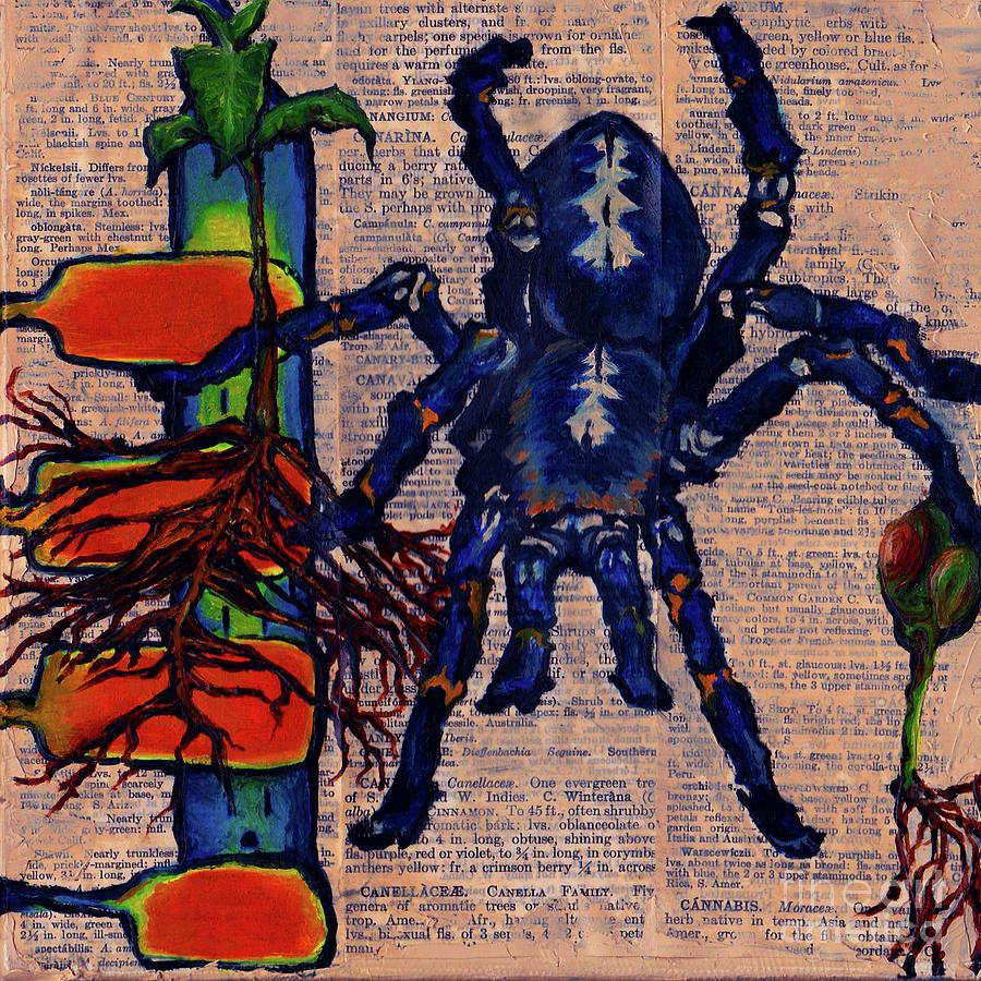 Tarantula Painting - Blue Tarantula by Emily McLaughlin