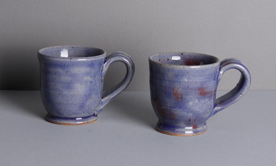 Mug Ceramic Art - Blue Teacup Set by Isaac Getlan