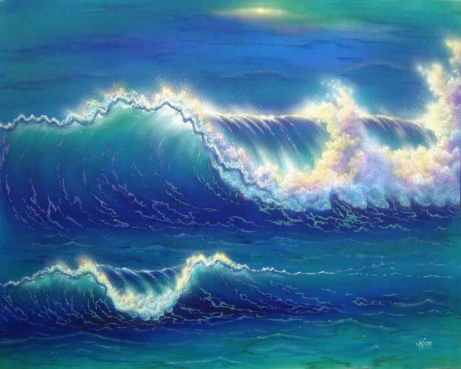 Seascape Painting - Blue Thunder by Angie Hamlin