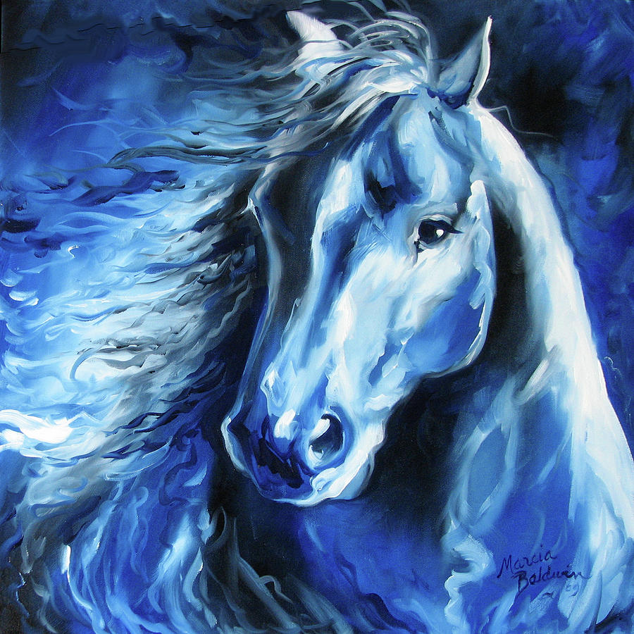 Horse Painting - Blue Thunder  by Marcia Baldwin