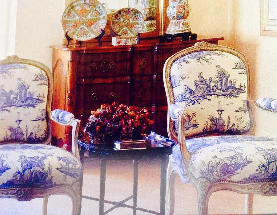 Wondrous Blue Toile Chairs Machost Co Dining Chair Design Ideas Machostcouk