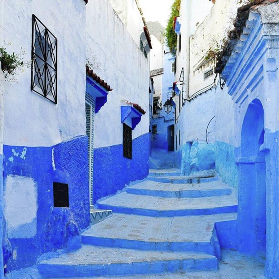 Morocco Photograph - Blue Town(morocco) #mytravelgram by Seiji Hori
