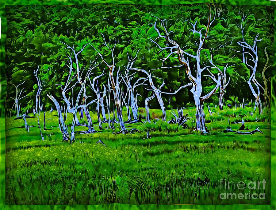 Blue Trees II by Leslie Revels