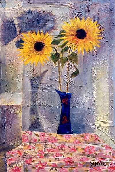Blue Vase II Painting by Leslie Marcus