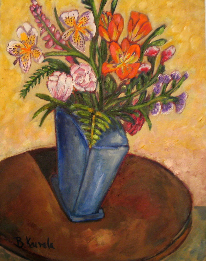Wildflowers Painting - Blue Vase by William Kairala