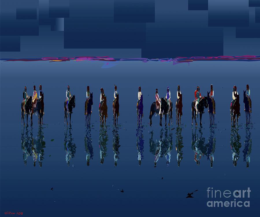 Blue Digital Art - Blue Vision Plain by Hilton McLaurin