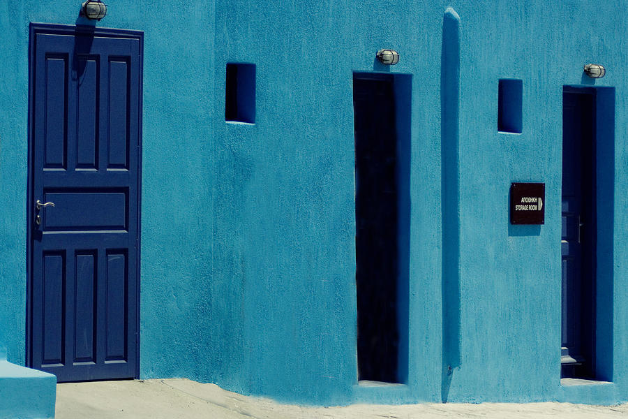 Blue Wall Photograph by Bulent Calli
