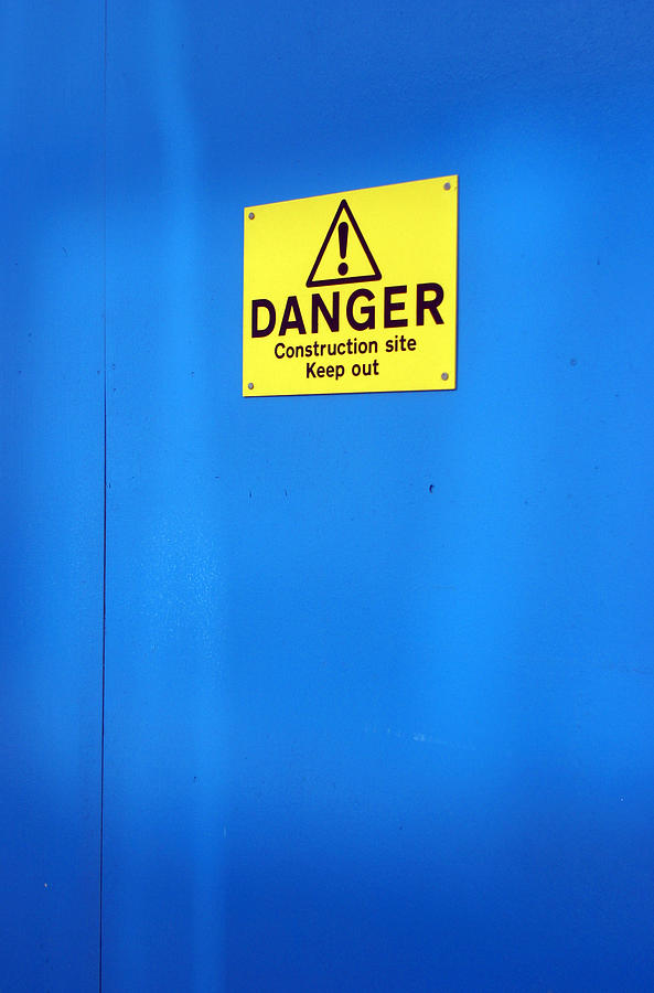 Photographer Photograph - Blue Warning 2 by Jez C Self
