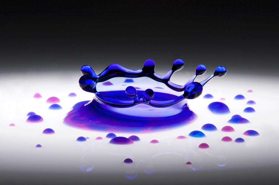 Blue Photograph - Blue Water Drop 2 by Michael Dykstra