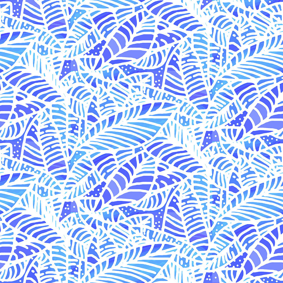 Blue Water Leaves by Karen Dyson