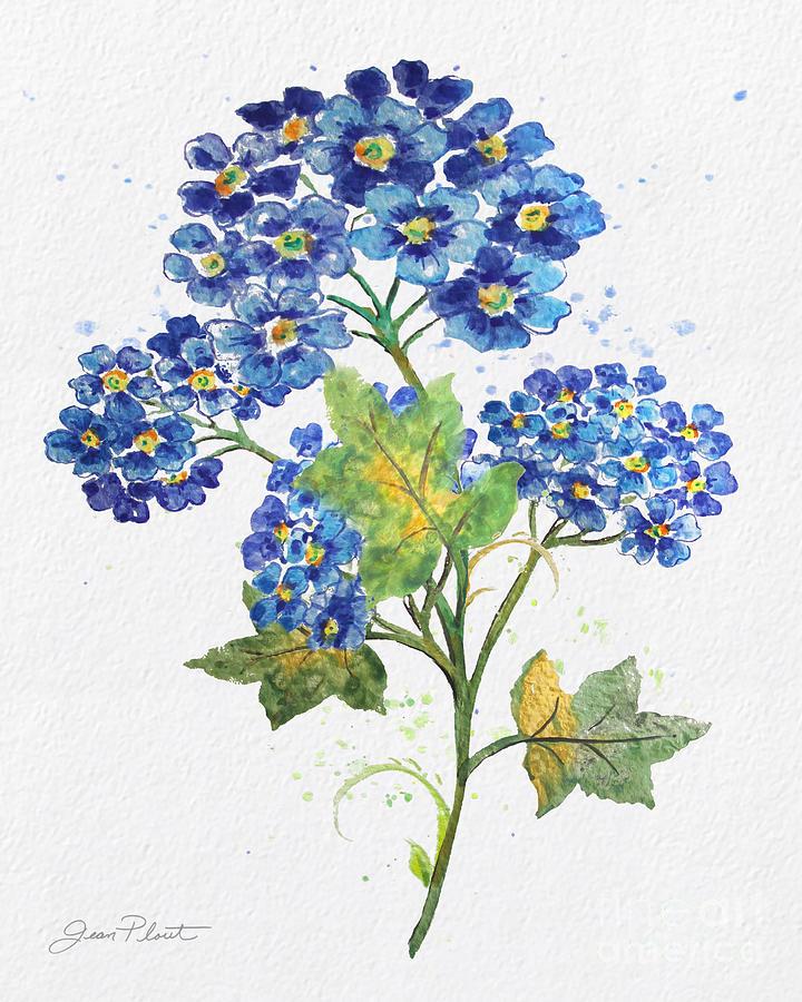 Blue Watercolor Flowers Jp3794
