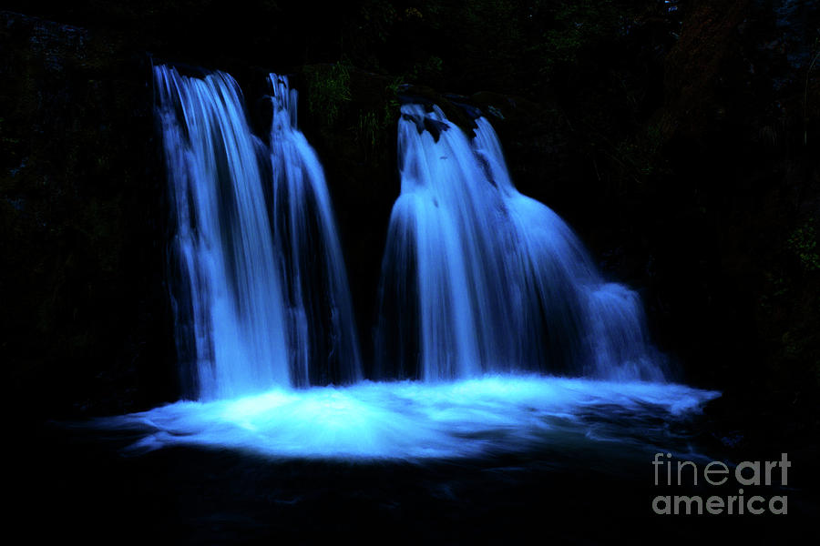 Blue Waterfall by Michael Cross