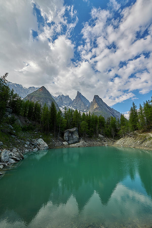 Courmayeur Photograph - Blue Waters Of The French Alps by Jon Glaser