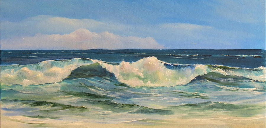 St Augustine Painting - Blue Wave by Jim Christley