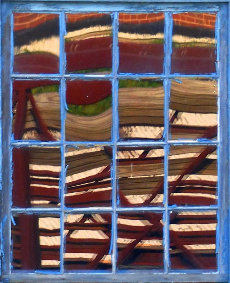 Abstract Photograph - Blue Window 2 by Charles Ford