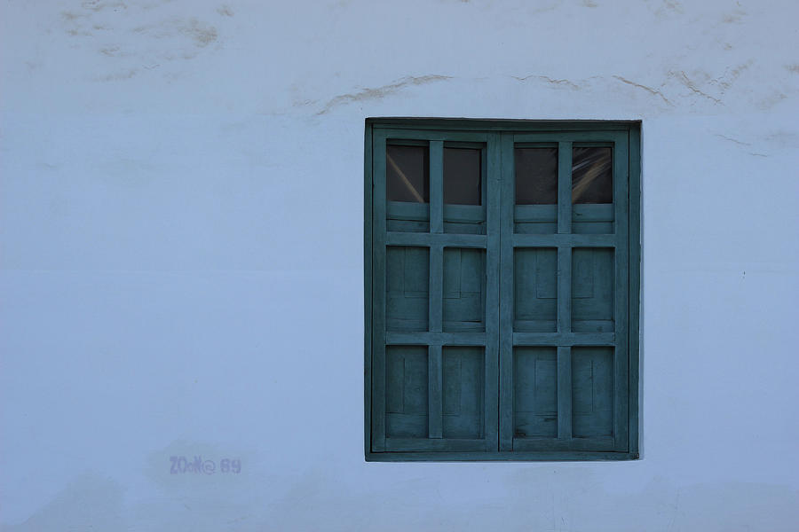 Window Photograph - Blue Window In A Wall by Robert Hamm