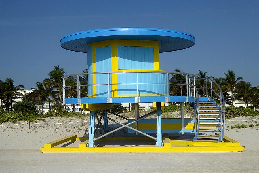 Blue Miami Beach Hut - Photo Art by Peter Potter