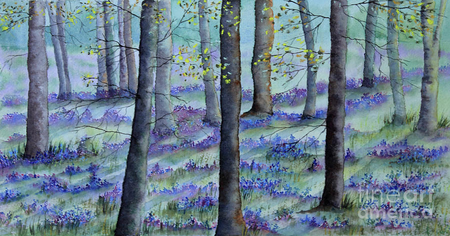 Bluebells Mixed Media - Bluebell Wood by Jackie Kirby