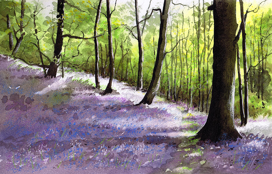 Bluebell Painting - Bluebell Wood by Paul Dene Marlor
