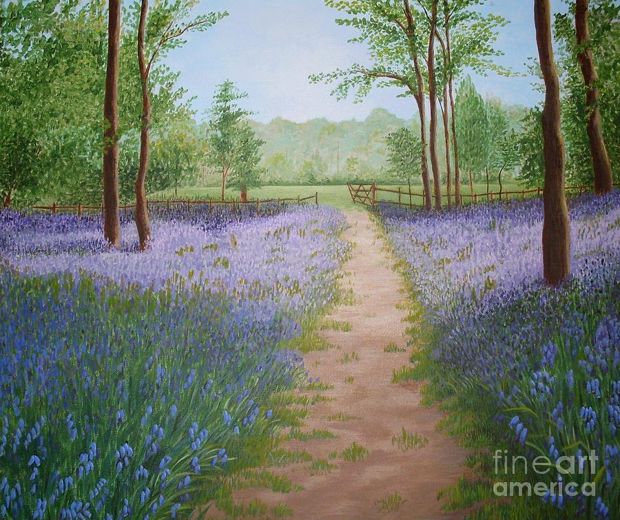 Bluebell Painting - Bluebells by Julia Underwood