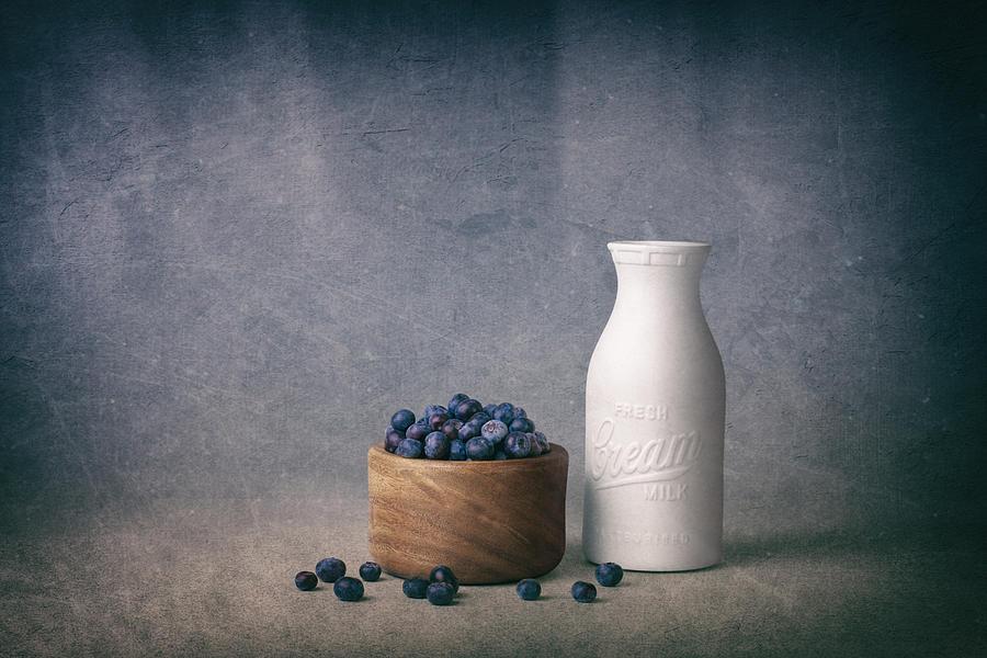 Abundance Photograph - Blueberries and Cream by Tom Mc Nemar