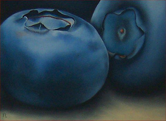 Still Life Painting - Blueberries by Natasha Zivojinovic