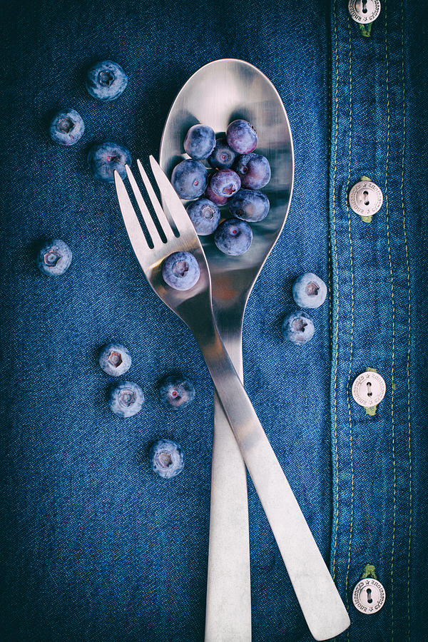 Jeans Photograph - Blueberries On Denim II by Tom Mc Nemar