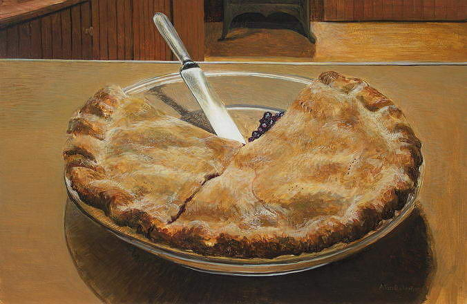 Food Painting - Blueberry by Alan  Bateman