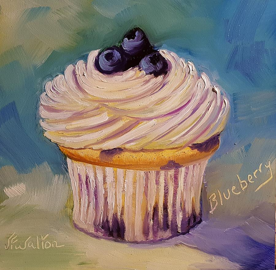 Blueberry Cupcake by Judy Fischer Walton