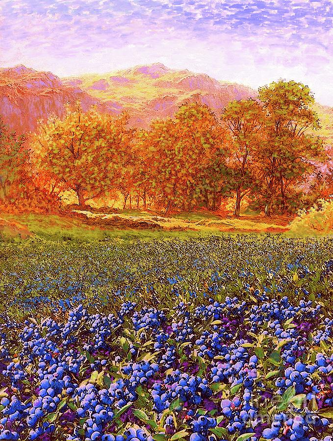 Meadow Painting - Blueberry Fields by Jane Small