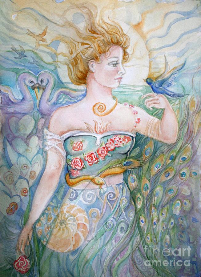 Bluebird Painting - Bluebird by Catherine Moore