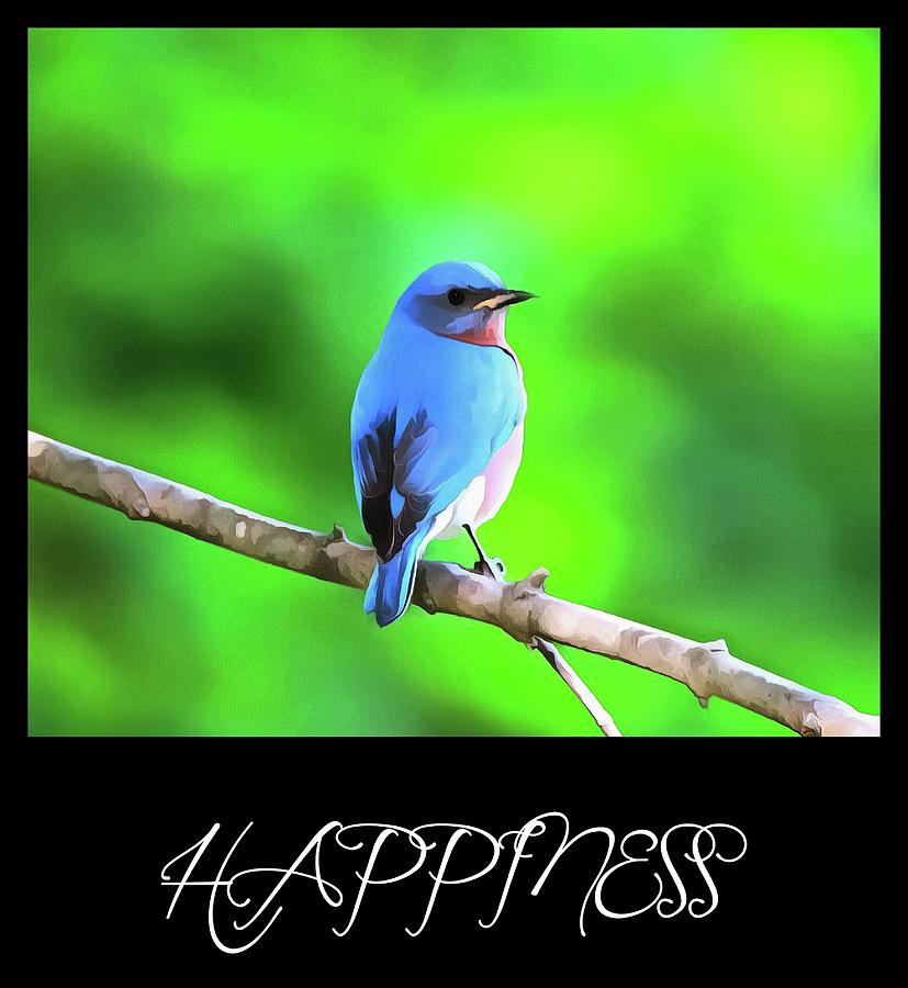 Bluebird Happiness Mixed Media