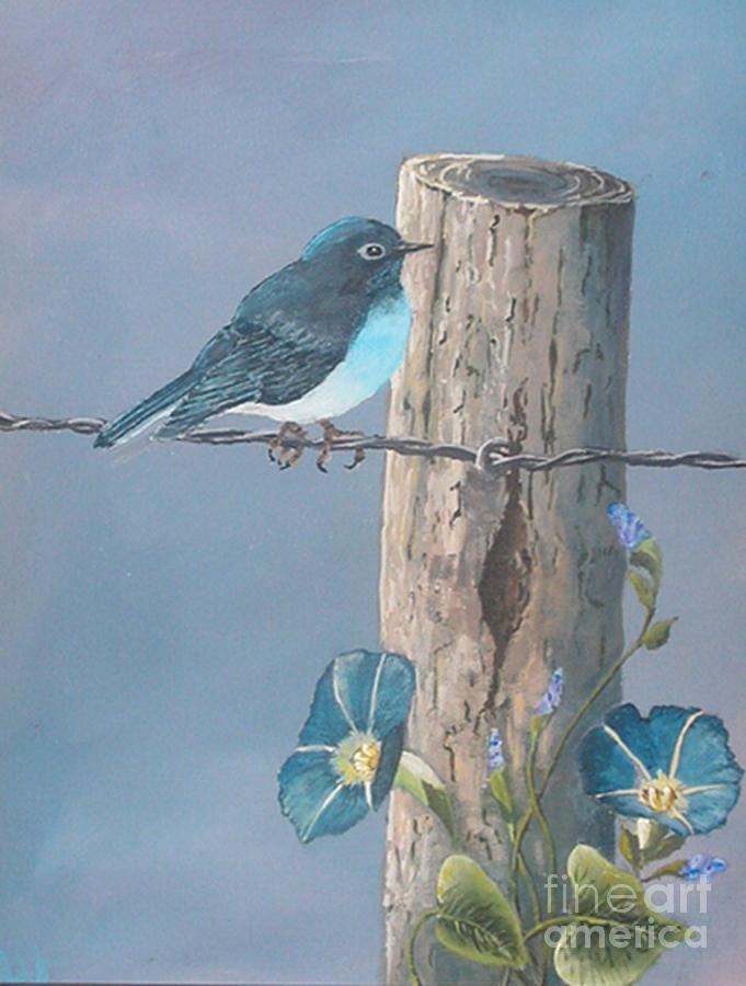 Bluebird Painting - Bluebird by John Wise